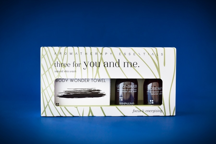 Geur geschenksets three for you and me: Focus & Energizing: Rosemary + Lemongrass