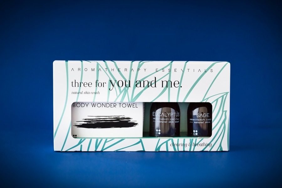 Geur geschenksets three for you and me: Clearing & Breathing: Eucalyptus + Sage